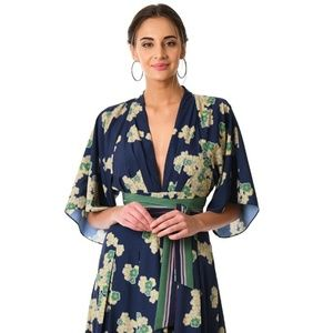 Long floral jumpsuit WITH POCKETS
